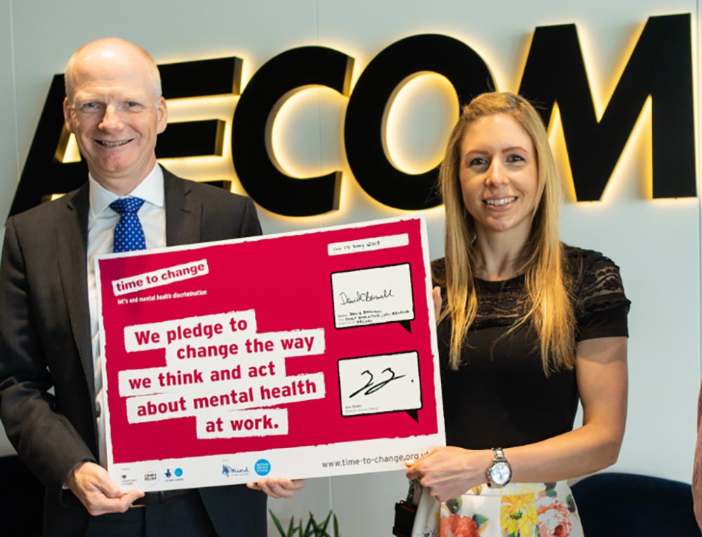 AECOM pledge wellbeing