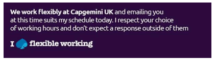 Capgemini email signature flexible working