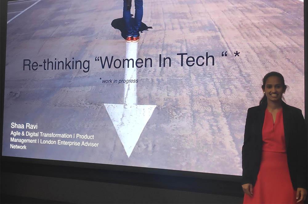 Shaa Capgemini Women in Tech speaking
