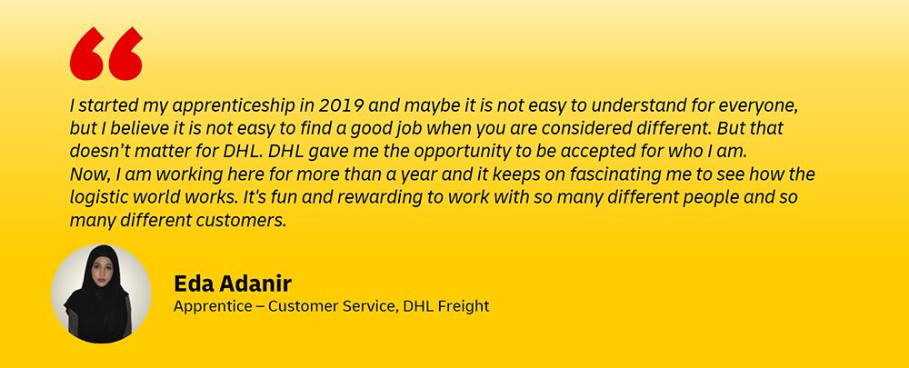 DHL apprenticeships for women