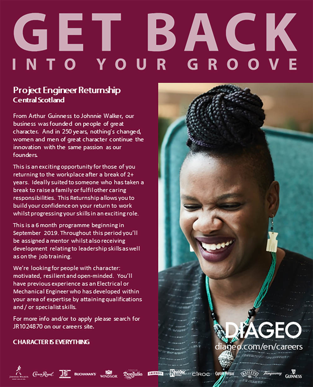 Diageo women career returners - part time jobs