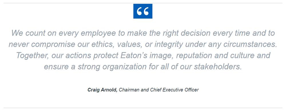 EATON ethics - employees