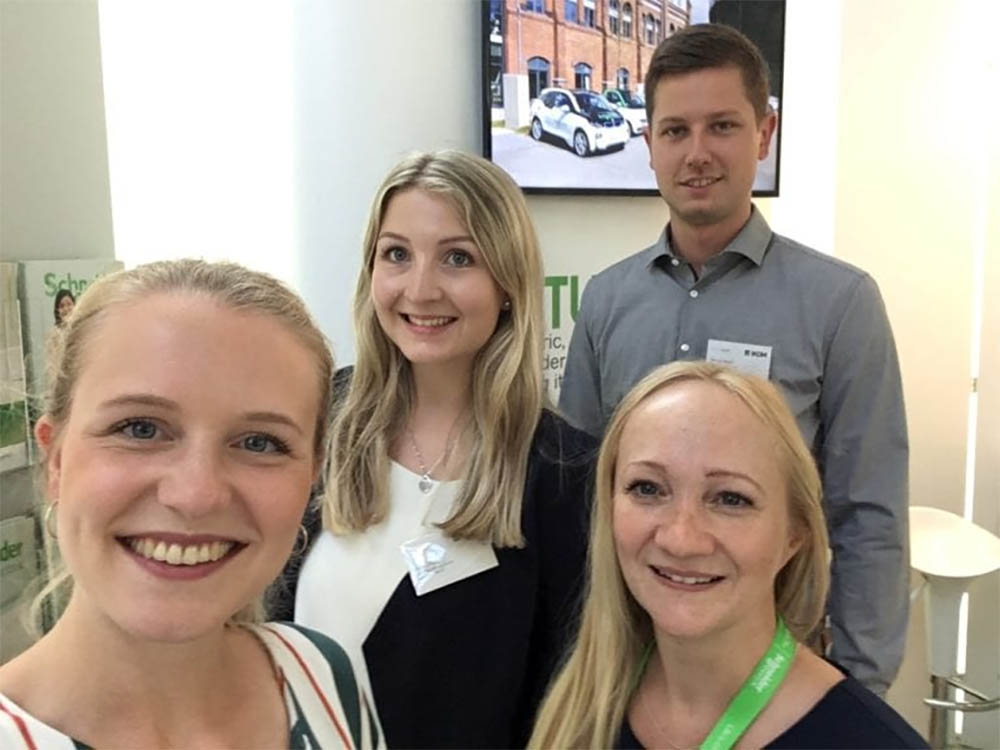 Schneider Electric intern Paulina and colleagues