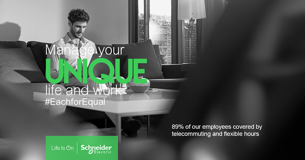 Schneider Electric flexible working