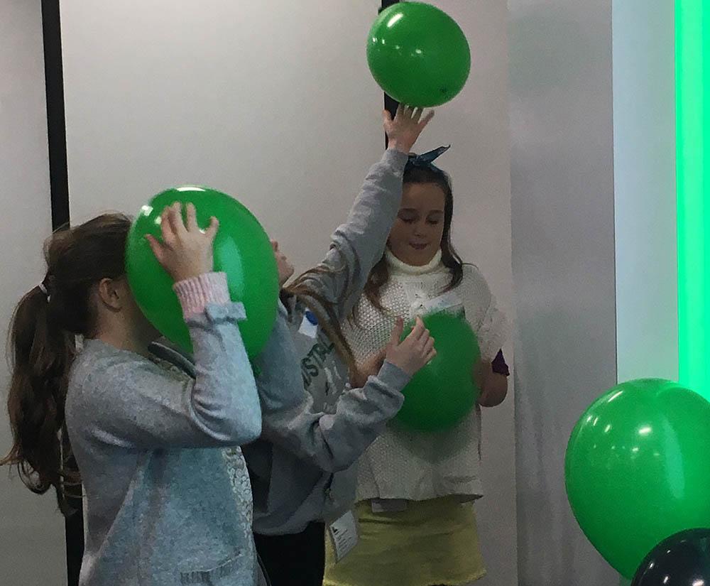 Schneider Electric girls balloons