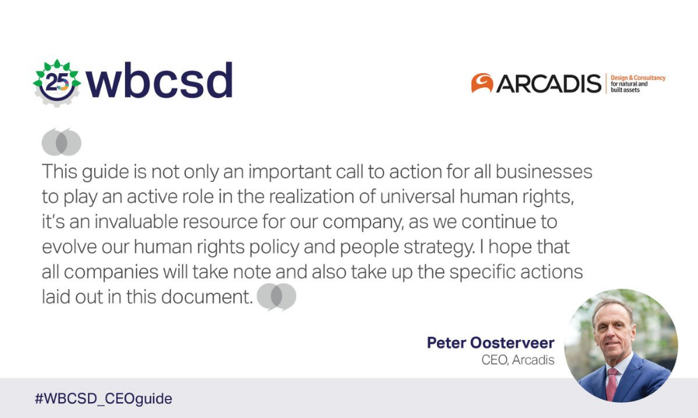 Arcadis CEO endorses Call to Action on human rights leadership