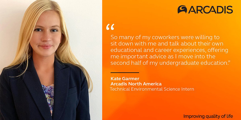 Arcadis prepares intern for environmental sustainability career