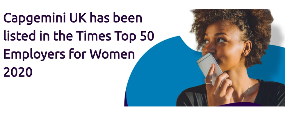 Capgemini UK celebrated as a top employer for women