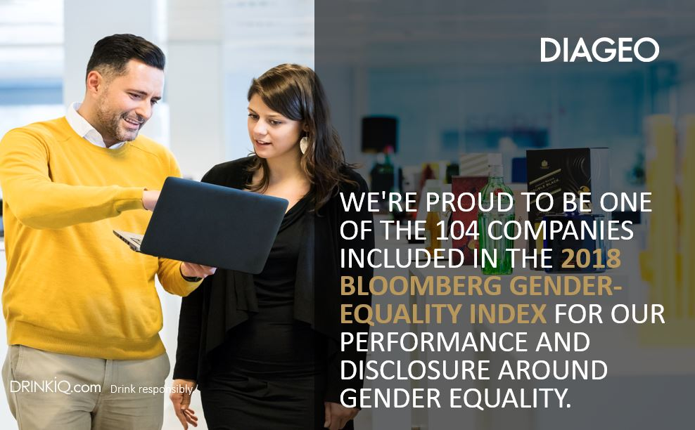Diageo included in Bloomberg Gender-Equality Index
