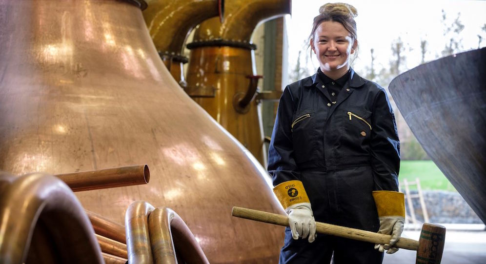 Diageo introduces Scotlands first female coppersmith apprentice