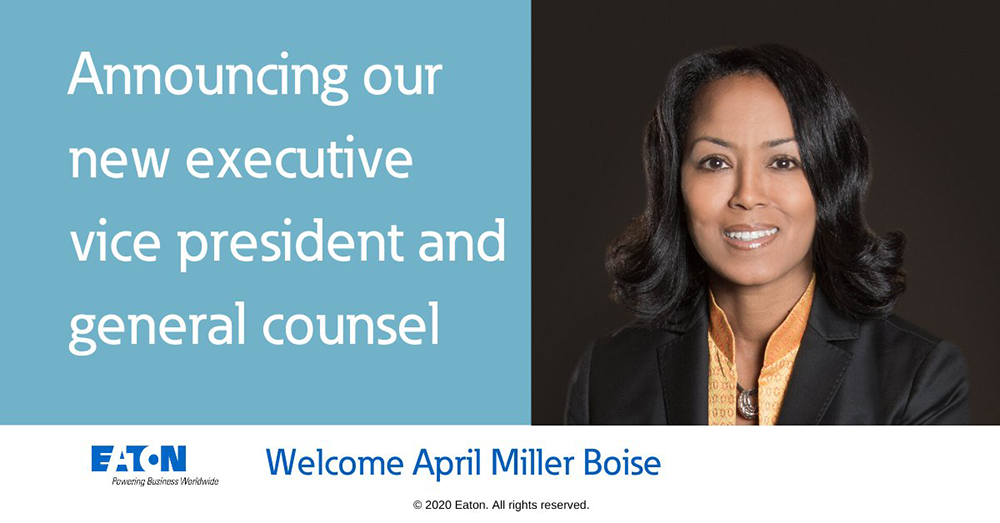 April Miller Boise is named Eaton Executive Vice President