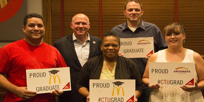 McDonalds restaurant employees supported through education