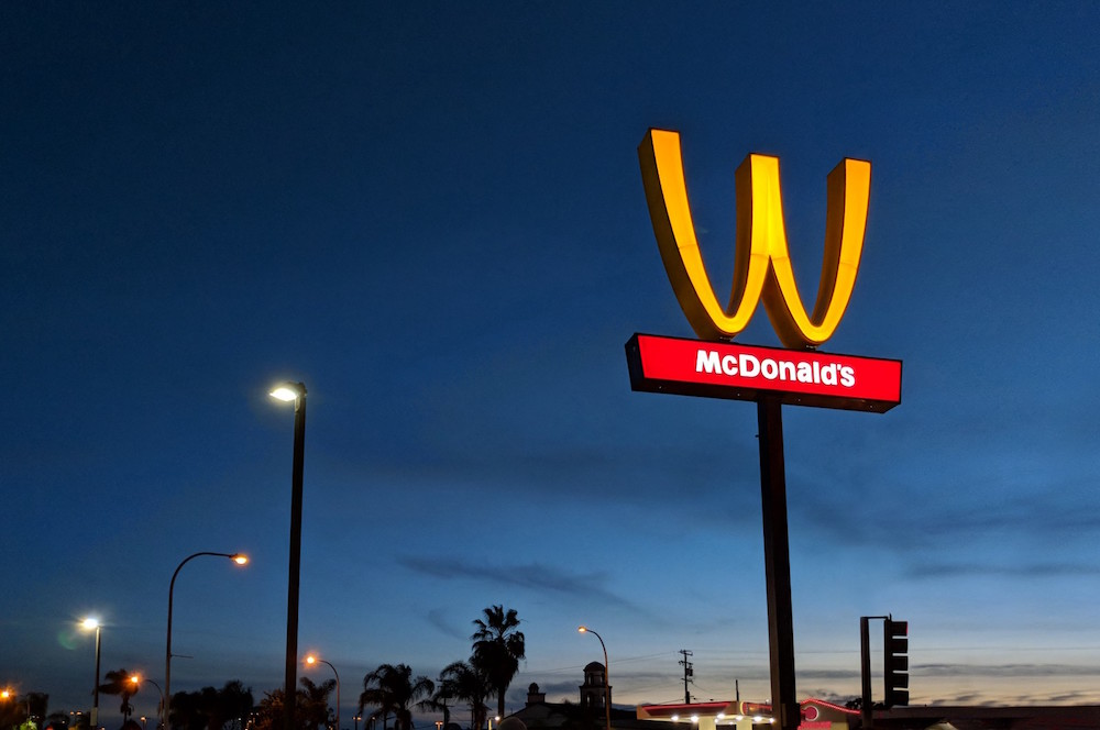McDonalds flip golden arches to celebrate women