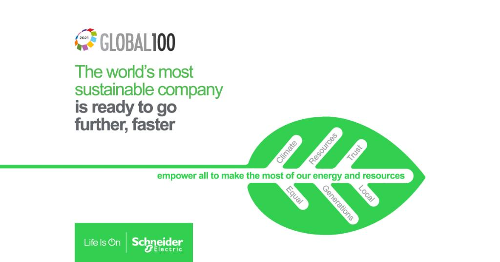 Schneider Electric named most sustainable company in the world