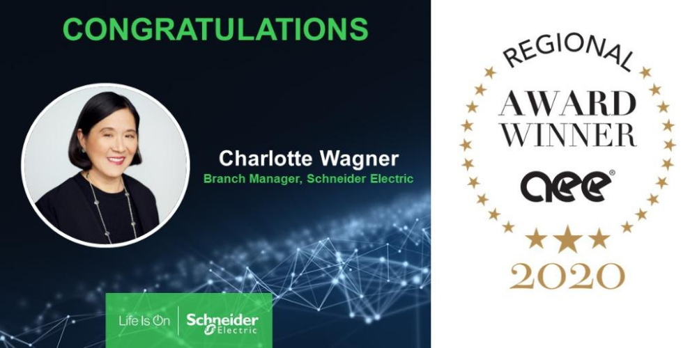 Award win for Schneider Electric branch manager Charlotte Wagner