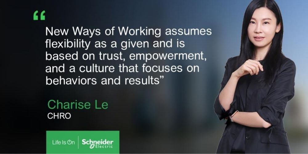 Schneider Electric Chief HR Officer discusses flexible working