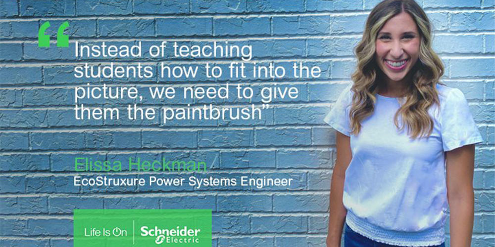 Schneider Electric supports engineer Elissa to mentor others