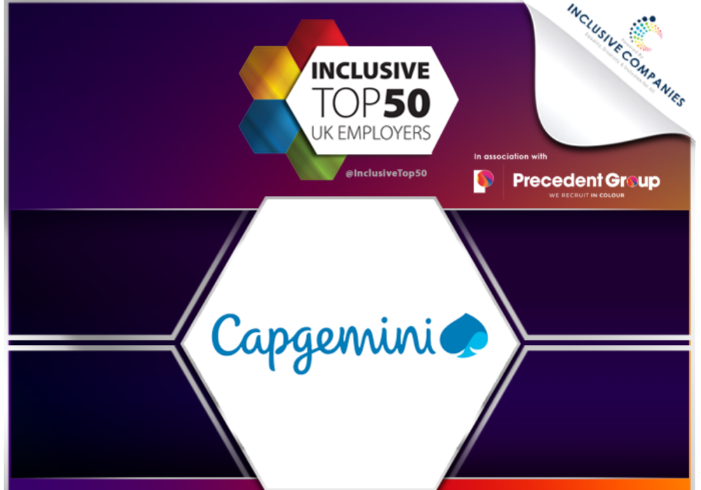 Capgemini ranks highly in list of top inclusive employers