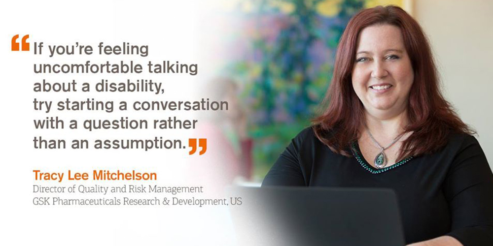 Senior Director Tracy helps GSK become disability confident