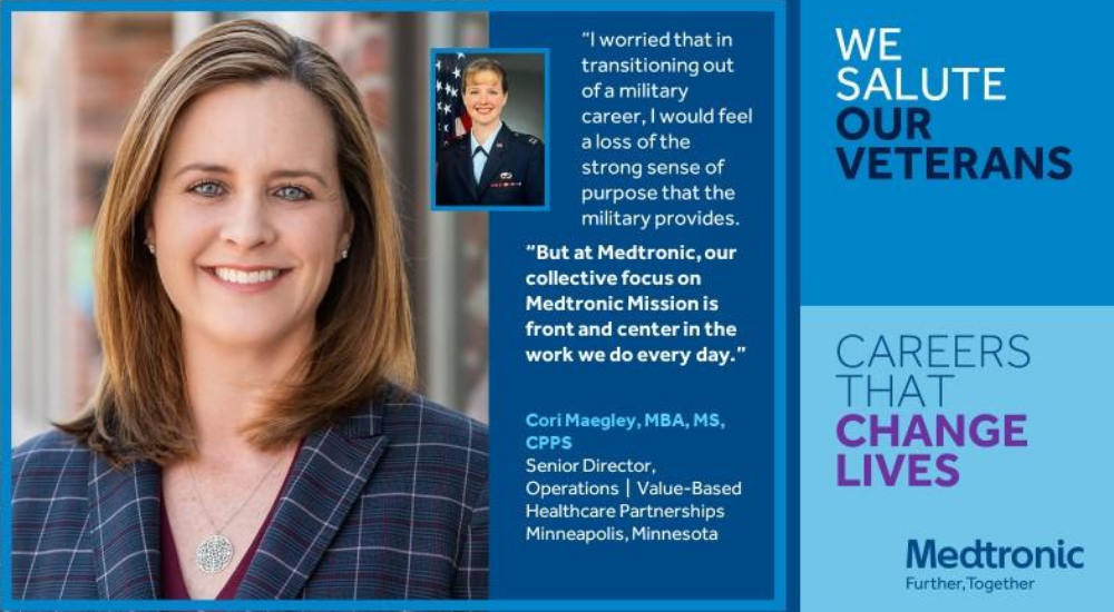 Senior Director Cori Maegley went from military career to Medtronic